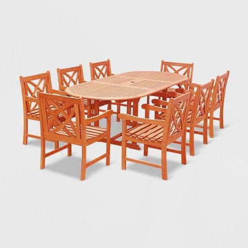 Vifah Patio Furniture.Vifah 9 Piece Patio Dining Set