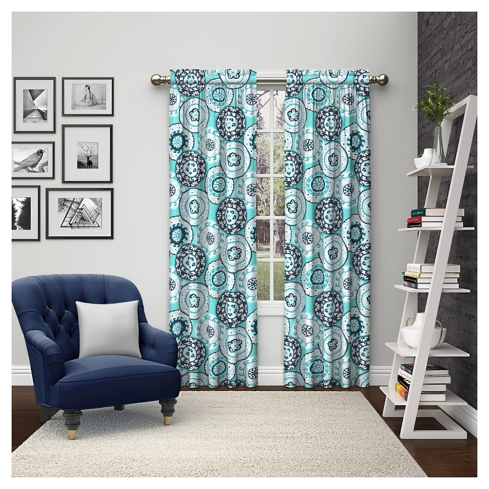 "Image of ""2 Piece Bradway Curtain Panels Blue (28""""x84"""") Pairs To Go"""