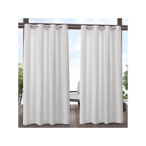 Aztec Indoor/Outdoor Grommet Top Light Filtering Window Curtain Panels - Exclusive Home - image 1 of 4