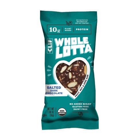 CLIF Whole Lotta Salted Dark Chocolate Nutrition Bar - 1ct - image 1 of 3