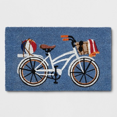 White Bicycle Tufted Doormats 1'6 X2'6  - Threshold™
