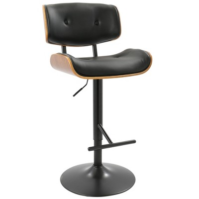Lombardi Mid-Century Modern Adjustable Barstool - LumiSource