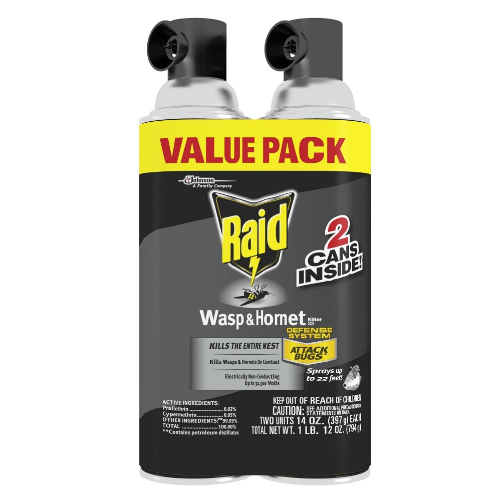 Image of Raid 14oz 2ct Wasp & Hornet KillerTwin Pack