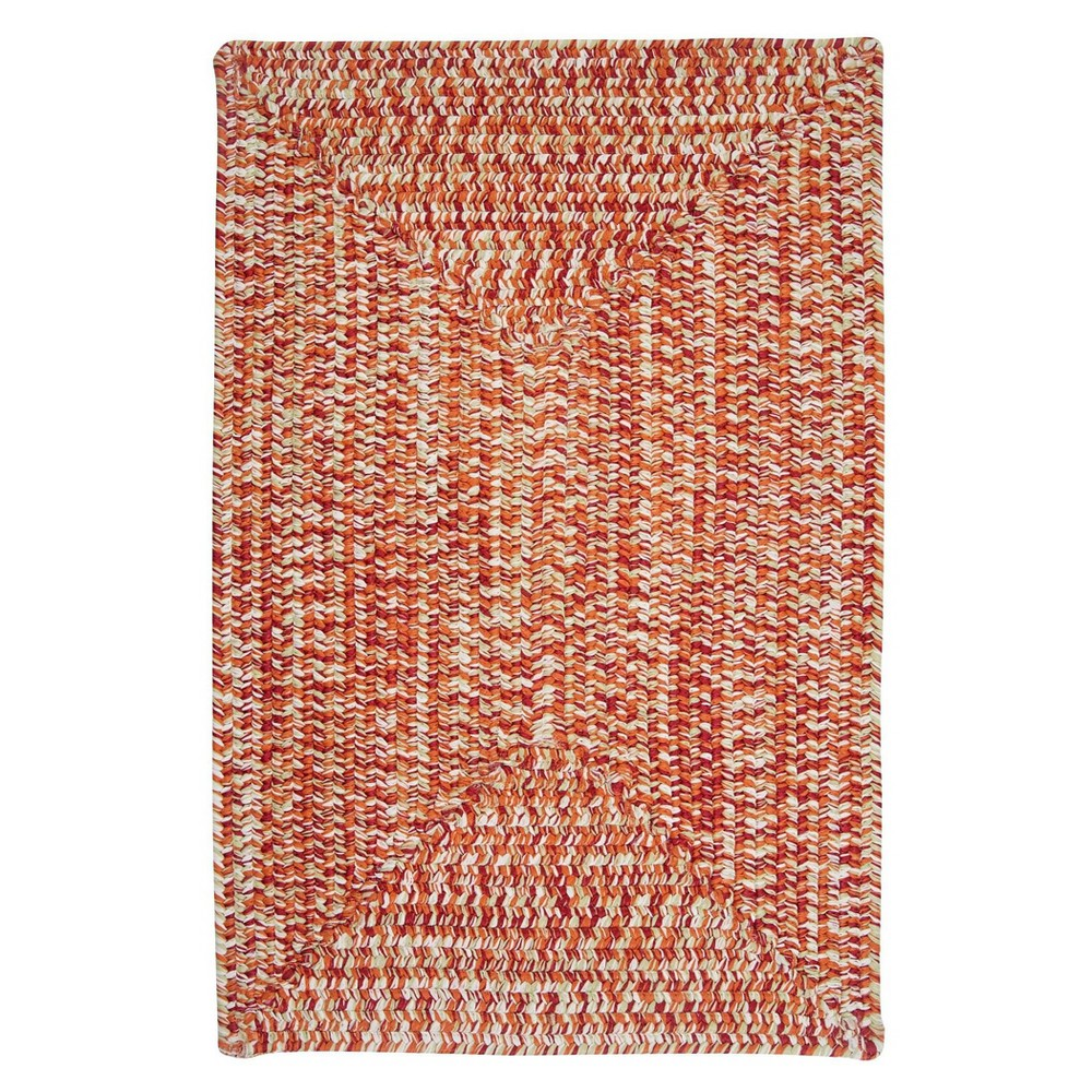 Island Tweed Braided Area Rug Red