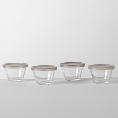 5.9oz 4pk Custard Cup with Lid Glass - Made By Design™