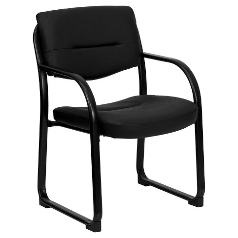 Executive Side Chair Black Leather - Flash Furniture - image 1 of 2