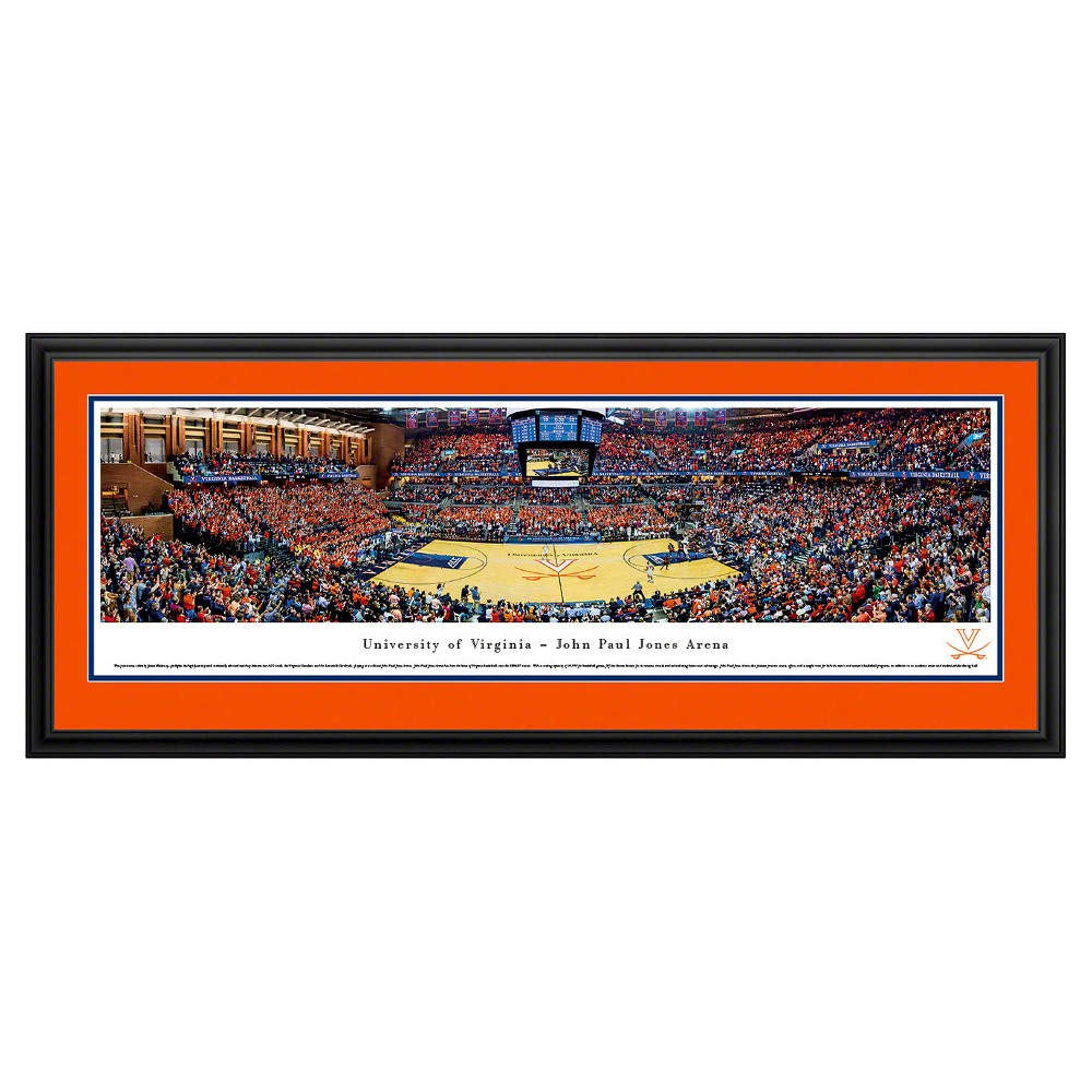 NCAAVirginia Cavaliers BlakewayBasketball Arena View Framed Wall Art, Virginia Cavaliers