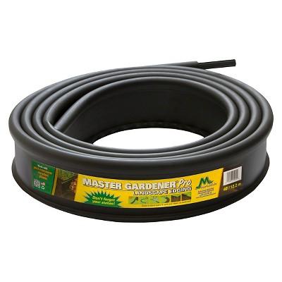 "4.875"" Gardener Pro Lawn And Garden Edging With 10 Stakes - Black - Master Mark Plastics"