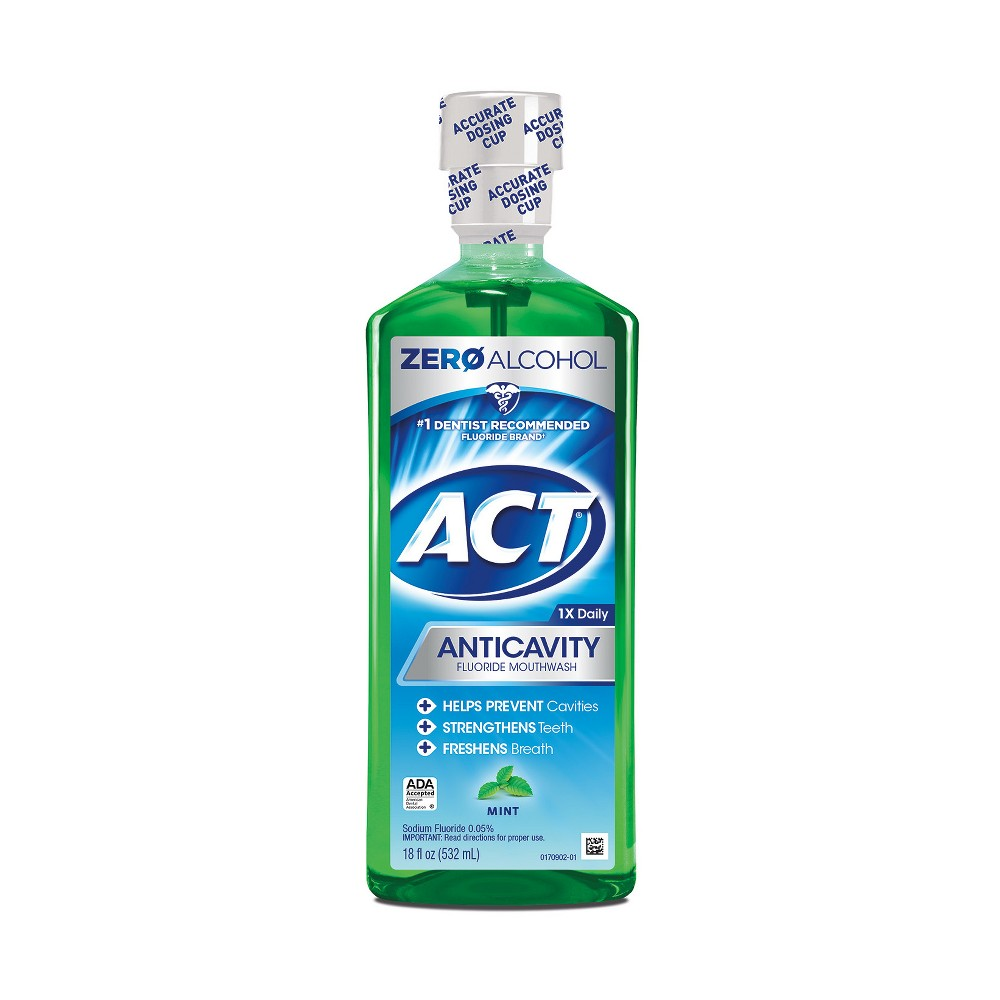 Image of Act Mint Fluoride Rinse - 18 fl oz