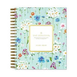 "2020-2021 Academic Planner 8""x10"" Frosted Daily/Monthly Wirebound Field of Daisies - Day Designer"
