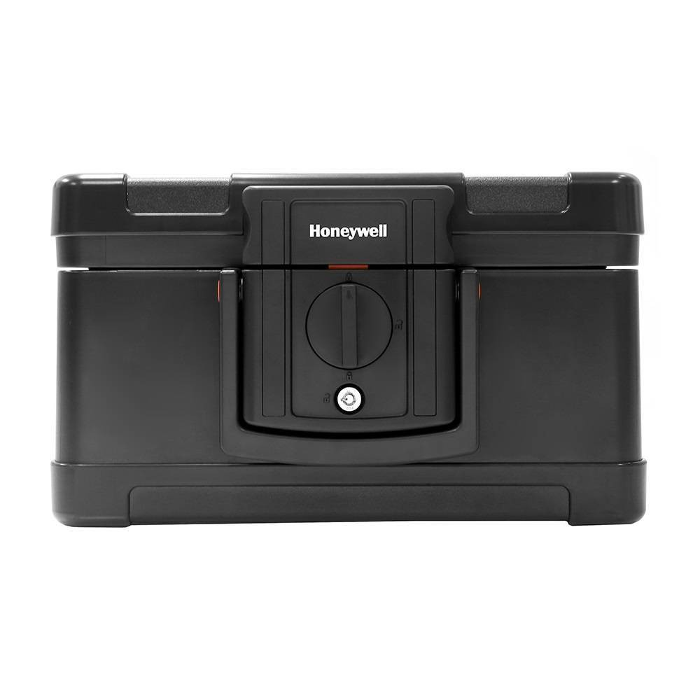 Image of Honeywell Waterproof 1/2 Hour Fire Document Chest, Black