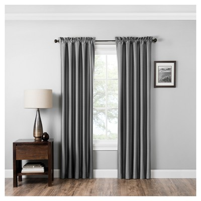 Miles Thermaback Blackout Curtain Panel Gray (42 x95 )- Eclipse Absolute Zero