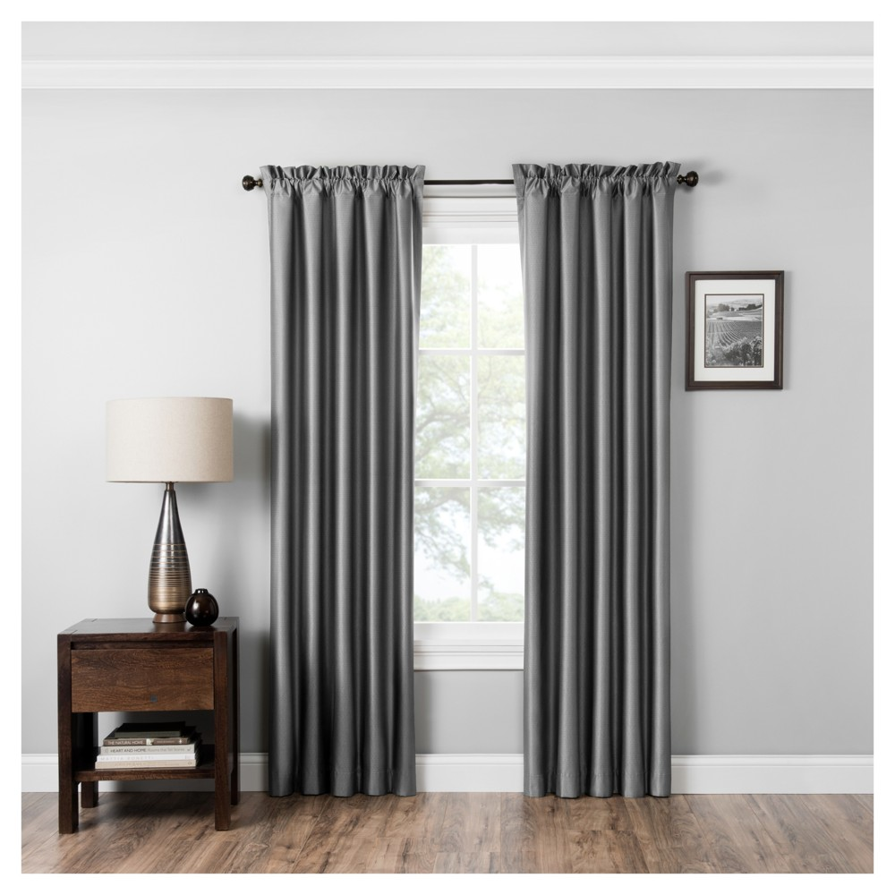 Miles Thermaback Blackout Curtain Panel Gray 42x63 Eclipse