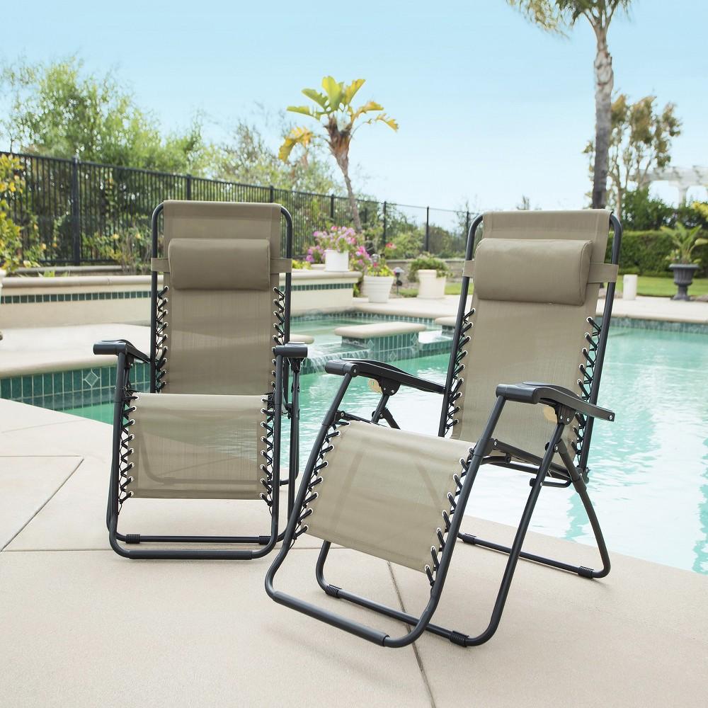 Image of Caravan Global 2 Piece Infinity Zero Gravity Chair - Beige
