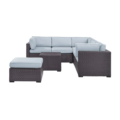 Biscayne 5pc All-Weather Wicker Patio Seating Set - Crosley - image 1 of 3