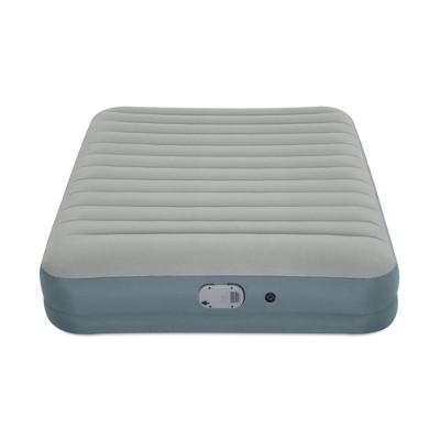 Bestway AlwayzAire Gray 14 Inch Indoor Outdoor Camping Inflatable Air Mattress Bed with Rechargeable USB Electric Built In Pump, Queen