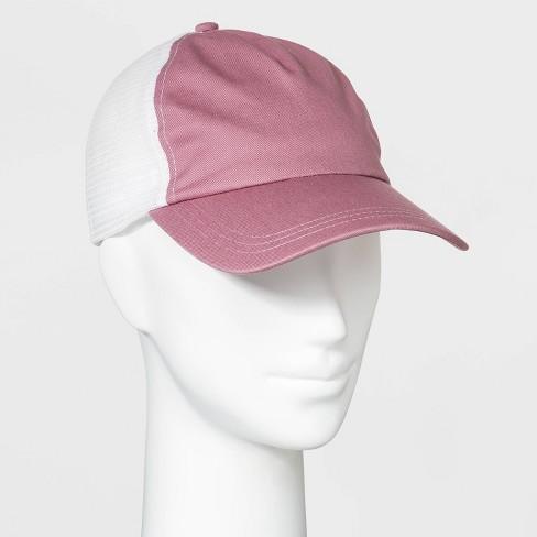 Women's Mesh Trucker Hat - Wild Fable™ Pink - image 1 of 2