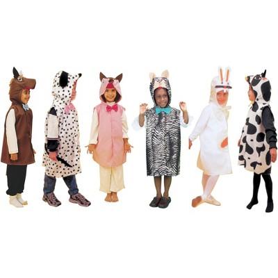 Dexter Toys Machine Animal Costumes, set of 6