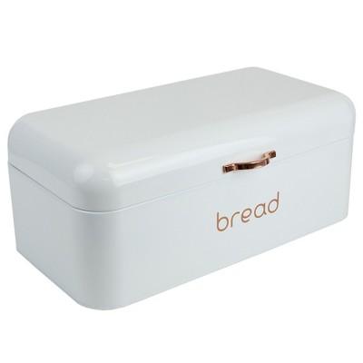 Home Basics Grove Bread Box, White