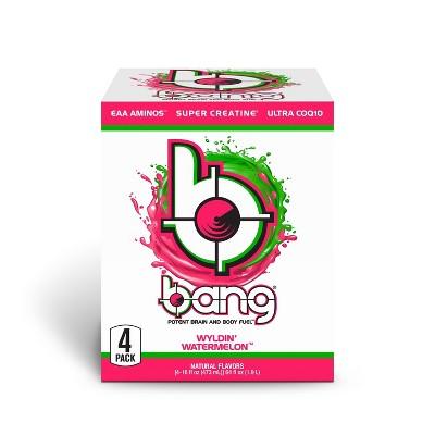 BANG Wyldin' Watermelon Energy Drink - 4pk/16 fl oz Can