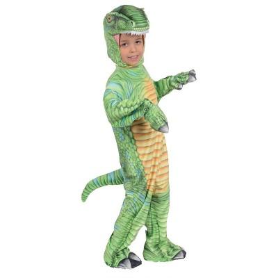Kids' Green T-Rex Printed Halloween Costume S