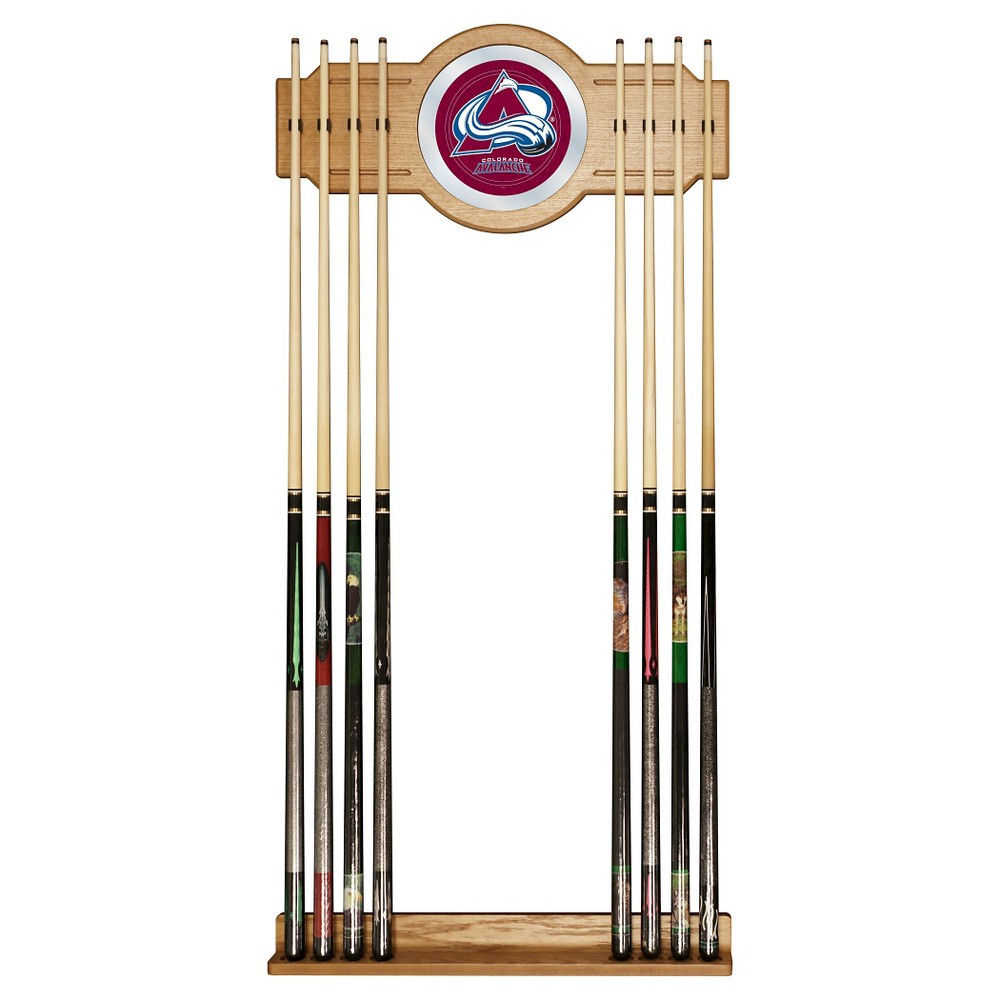 Colorado Avalanche 2-Pc Wood and Mirror Wall Cue Rack