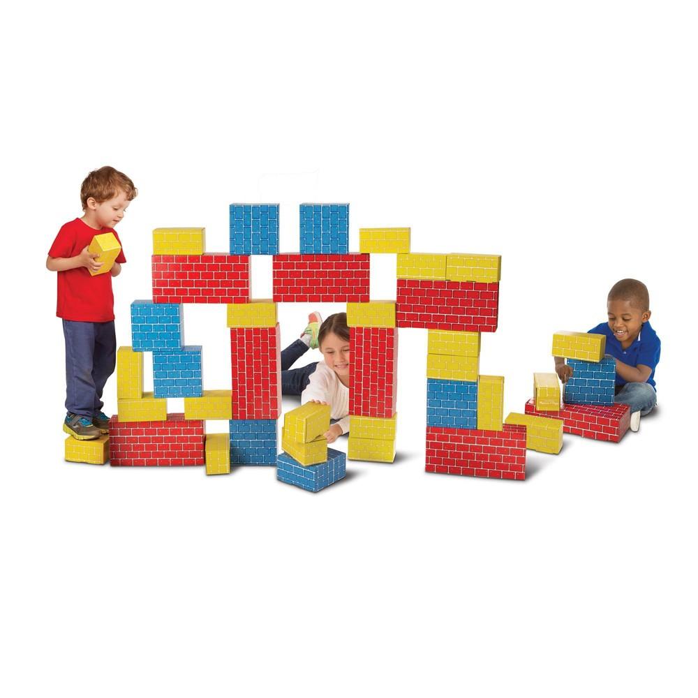 Melissa Doug Lightweight Jumbo Cardboard Building Block Set 40pc
