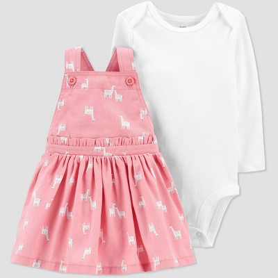 Baby Girls' Giraffe Top & Bottom Set - Just One You® made by carter's Pink 12M