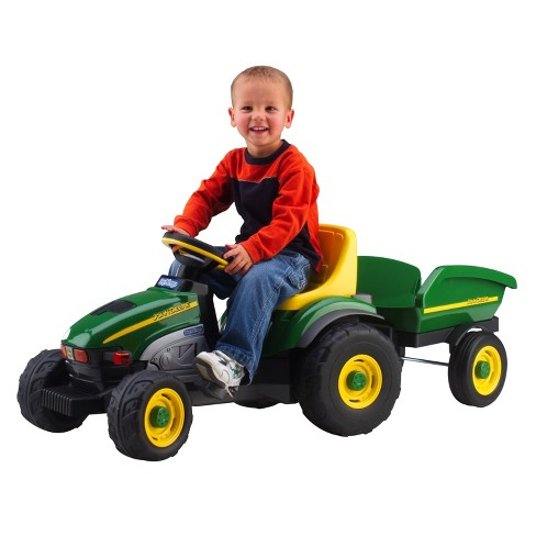 Peg Perego John Deere Farm Tractor with Trailer - image 1 of 4