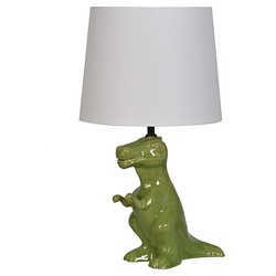 Dinosaur Table Lamp Green - Pillowfort™