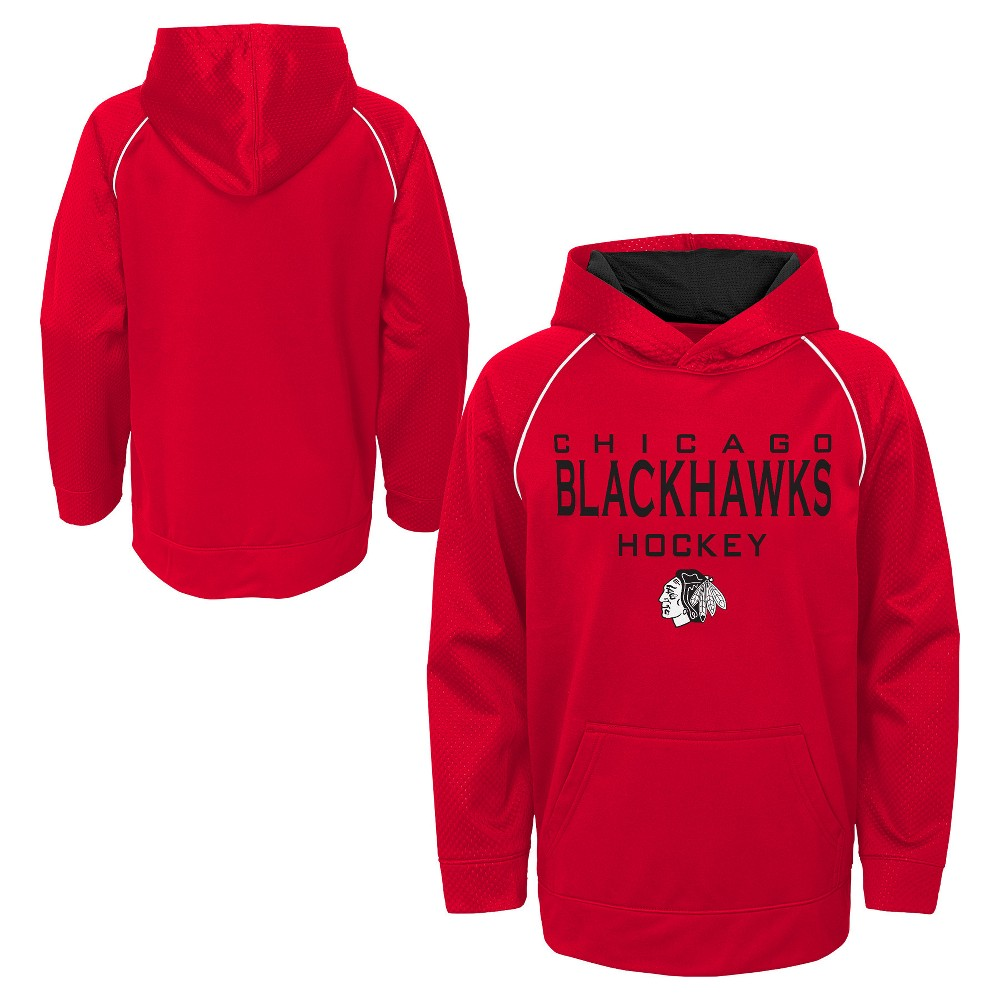 Chicago Blackhawks Boys' Shorthand Poly Embossed Hoodie S, Multicolored