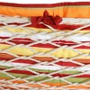 Polyester Quilted Hammock Pad and Pillow - Tropical Orange Stripe - Sunnydaze Decor - image 4 of 4