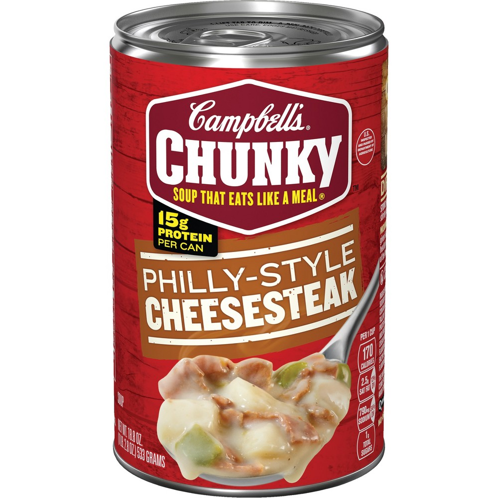 Campbell's Chunky Philly-Style Cheesesteak Soup 18.8 oz