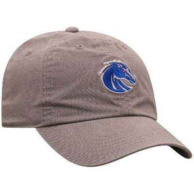 NCAA Boise State Broncos Men's Gray Garment Washed Canvas Hat