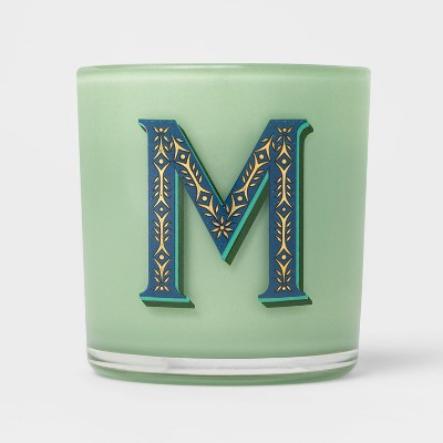 7oz Glass Soy Wax Monogram 'M' Candle - Opalhouse™