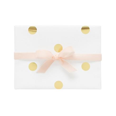 Large Polka Dot On White Gift Wrap Single Roll Sugar Paper Target