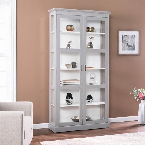 77 75 Trefstan Tall Curio Cabinet Cool, Tall Curio Cabinet