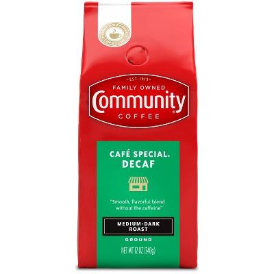 Community Coffee Café Special Medium-Dark Roast Ground Coffee - Decaf - 12oz