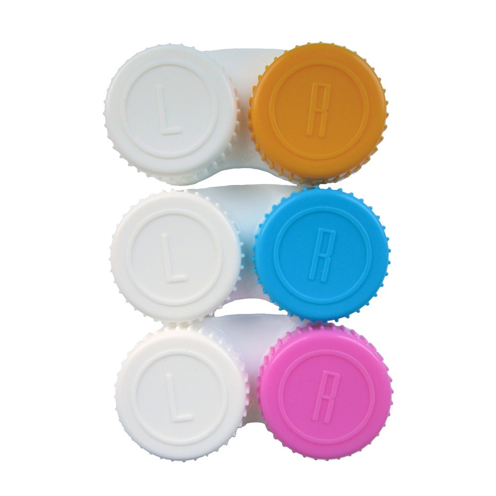 Contact Lens Cases - Colors Vary - 3ct - up&up Keep your contacts safe and secure with the Contact Lens Cases by up and up. Perfect for home use, or for on the go, this lens case will hold up to 3 pairs of contacts. Quality needs priced to please. With up and up your satisfaction is 100 percent guaranteed or your money back. Age Group: Adult.