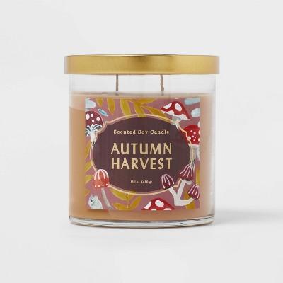 Lidded Glass Jar Autumn Harvest Candle - Opalhouse™
