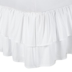 White Double Ruffle Bed Skirt - Simply Shabby Chic®