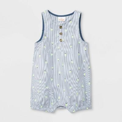 Baby Easter Chick Sleeveless Romper - Cat & Jack™ White/Blue 6-9M