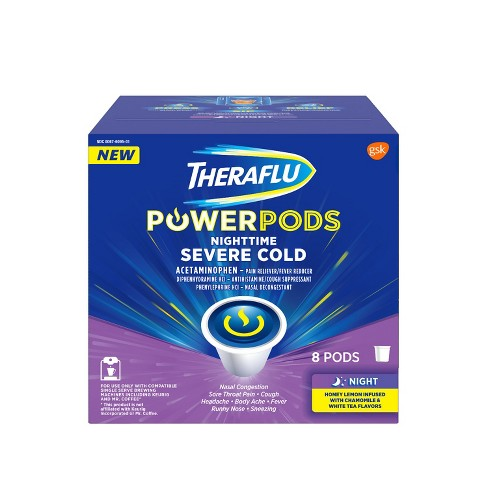 Theraflu Powerpods Nighttime Severe Cold Medicine Honey Lemon With