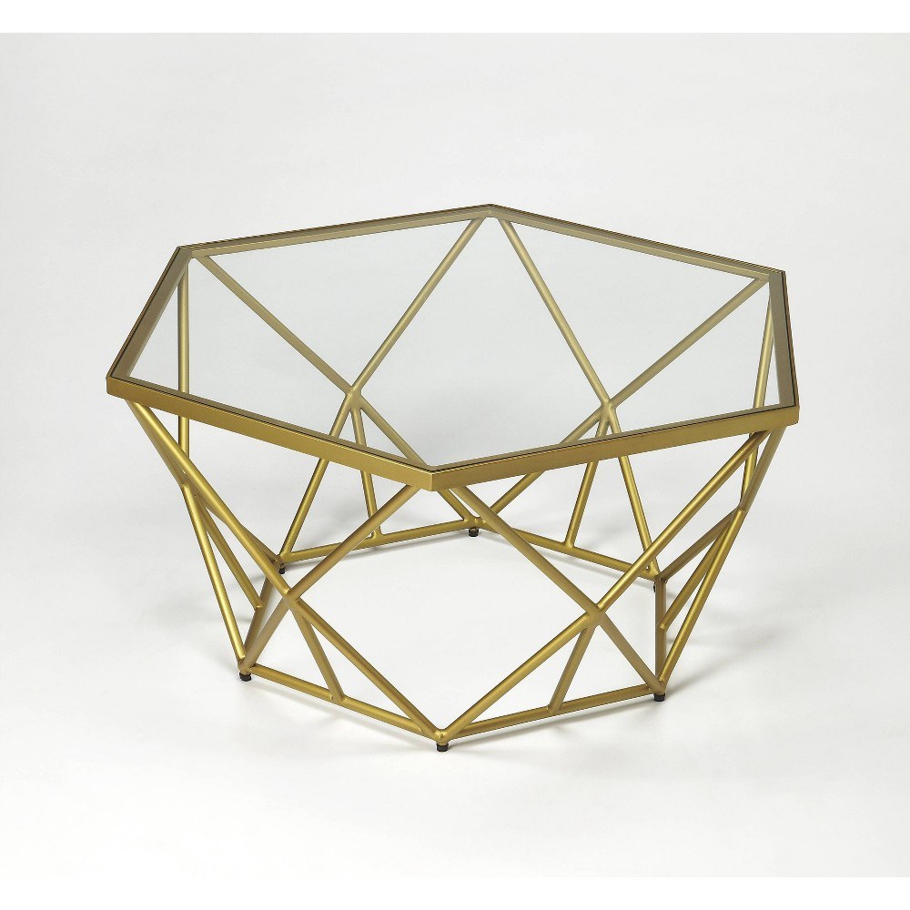 Image of Alondra Powder Coated Cocktail Table Gold - Butler Specialty