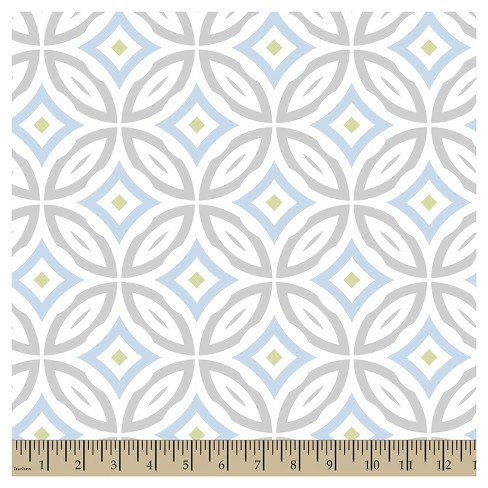 Jack Friendship Circle Blue Cotton Fabric - image 1 of 1