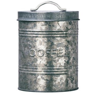 Amici Home Rustic Kitchen Metal Canister, Coffee, 76oz