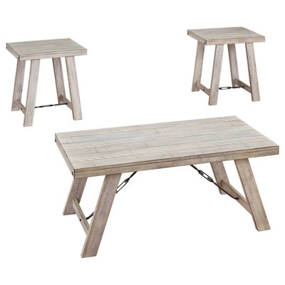 3pc Carynhurst Coffee and End Table Set White - Signature Design by Ashley