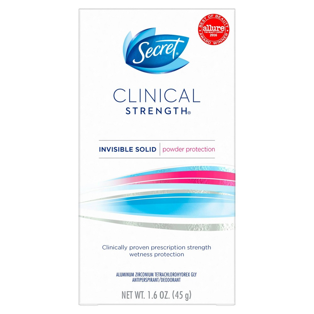 Image of Secret Clinical Strength Antiperspirant and Deodorant for Women Invisible Solid Powder Protection - 1.6oz