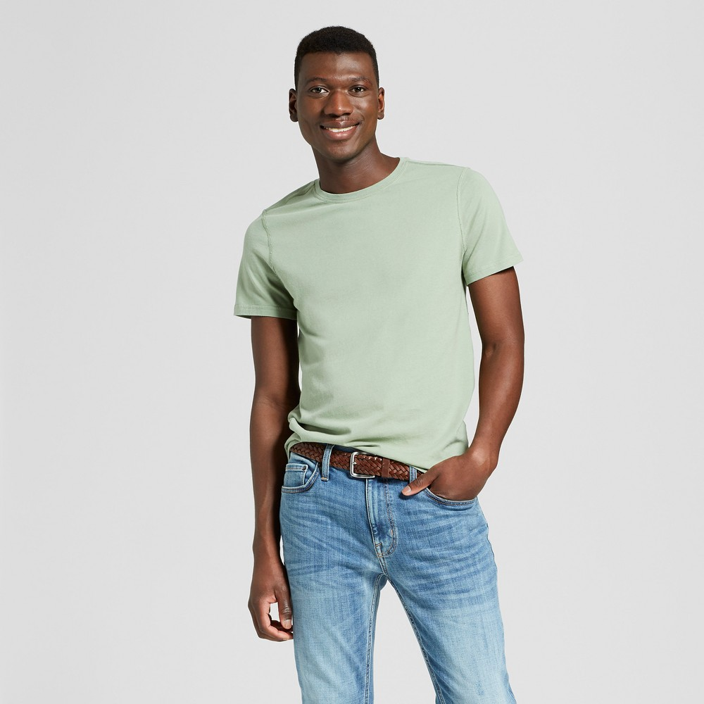 Image of Men's Standard Fit Short Sleeve Adaptive Crew Neck T-Shirt - Goodfellow & Co Pioneer Sage 2XL, Men's, Pioneer Green