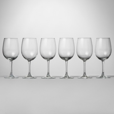 12oz 6pk Glass Alto Wine Glasses - Made By Design™